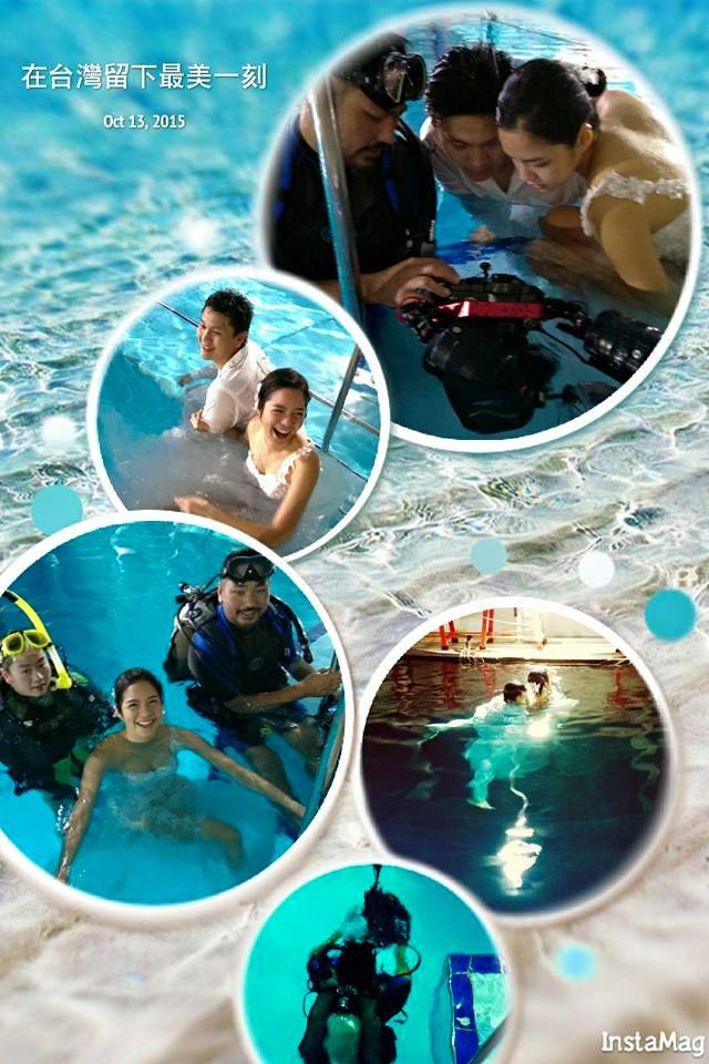 水中婚紗,水底攝影