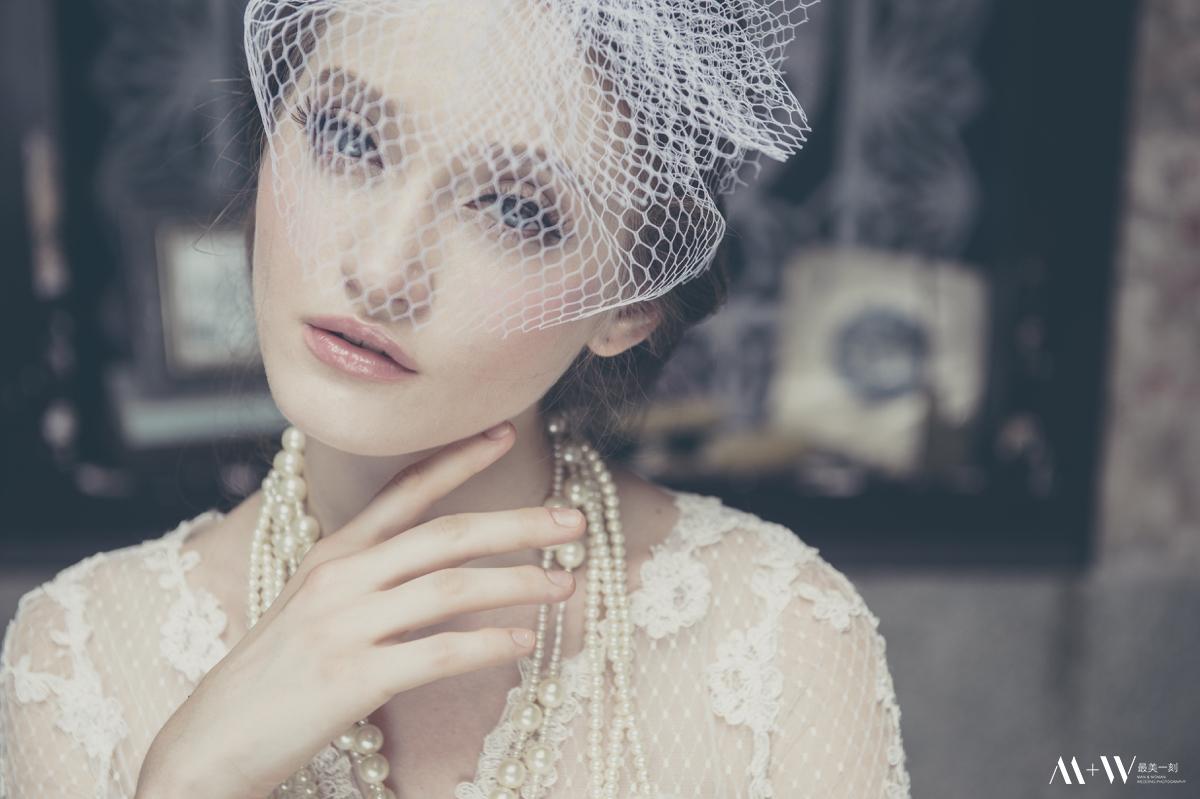 整體造型,新秘,復古白紗,歐美風格,蕾絲禮服